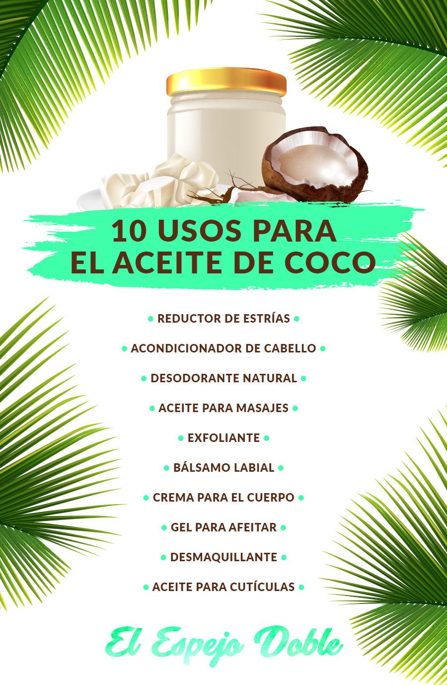 Usos aceite coco - elespejodoble.es